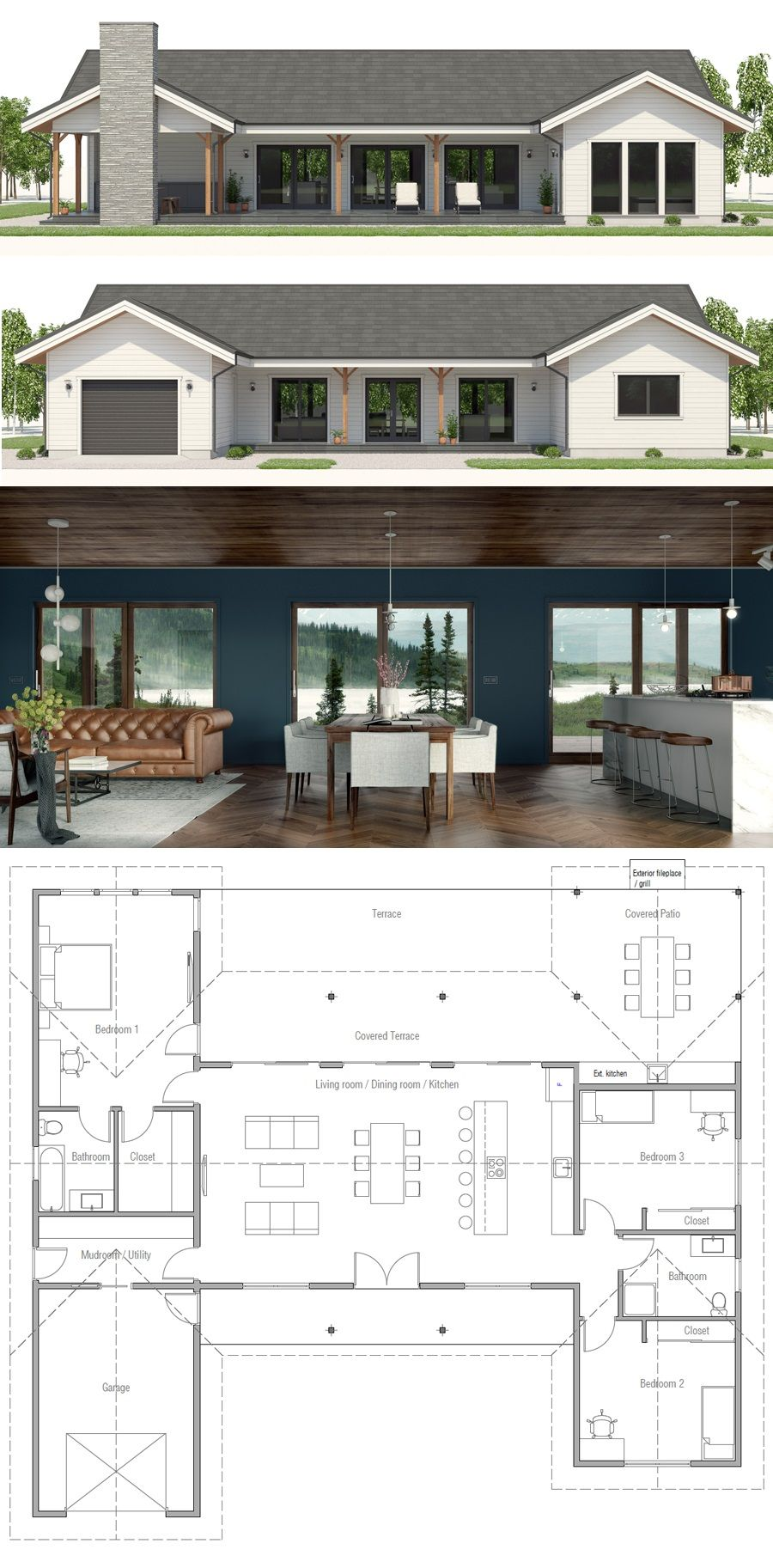 Single Story House Plan New House Plans Modern House Plans Small House Plans