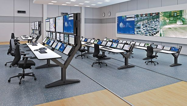 Command Center Furniture Design envision command consoles provide optimal sight lines and