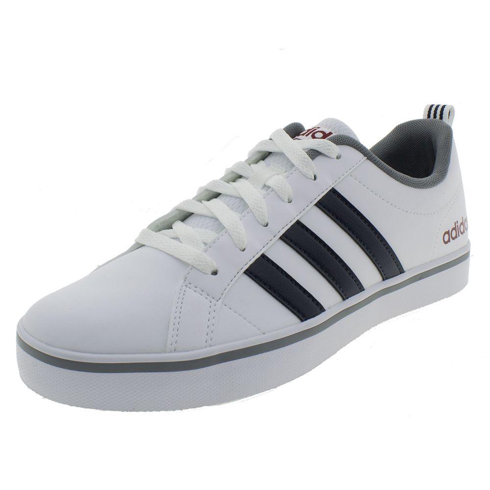 69821da7a7 Tênis Masculino Pace VS Branco Adidas