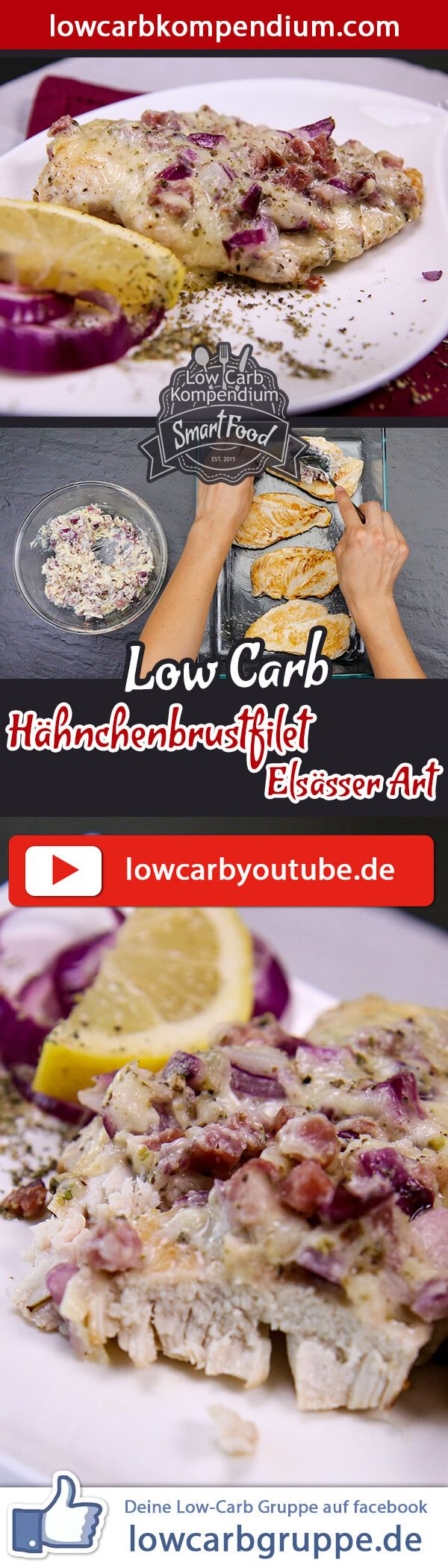 Photo of Chicken breast fillet Alsatian style 😋 Low-carb oven dish simple & quick