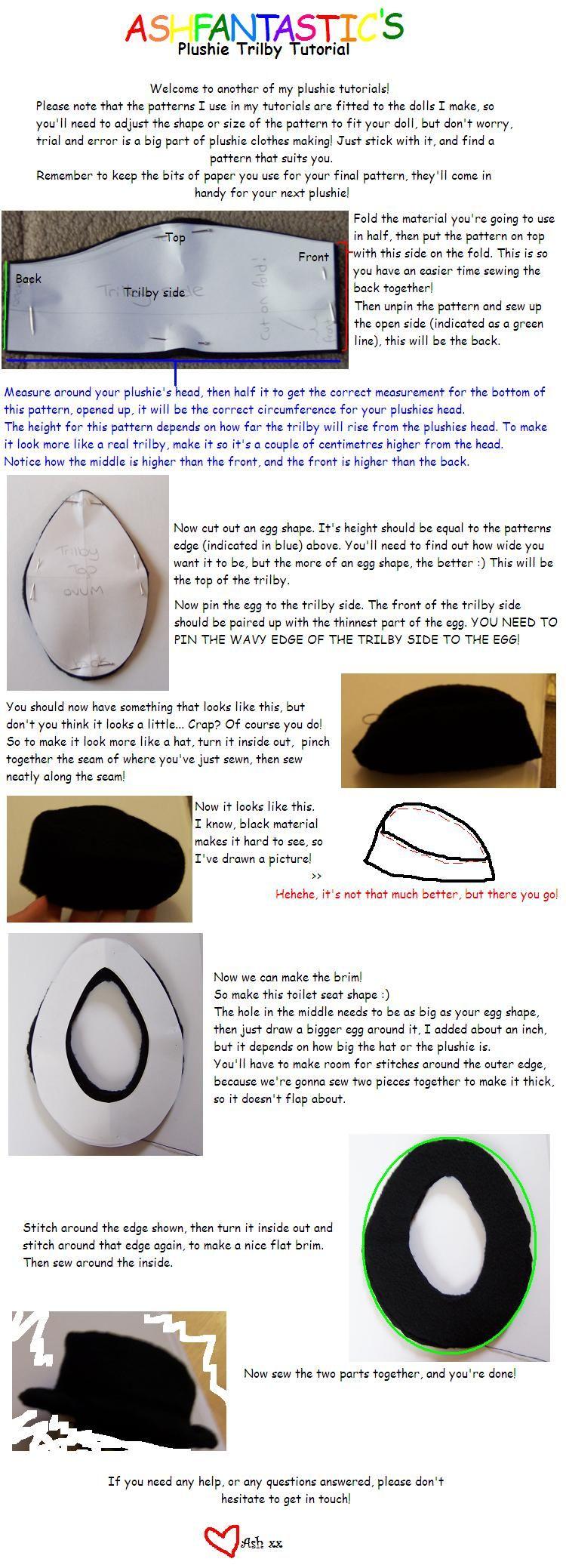 Diy Fedora Diy Hat Diy Refashion Hat Tutorial Diy Hat Trilby Hat