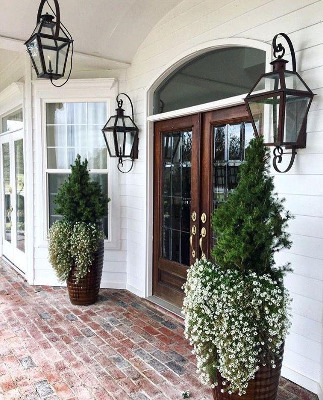 Brick Porch, Home, Doors