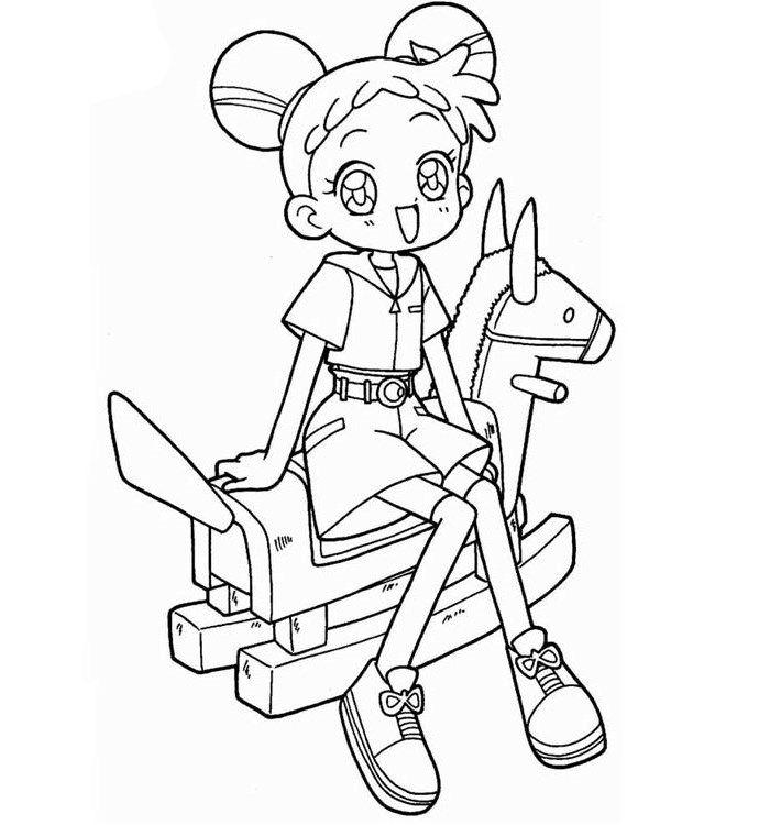 Manga Fargelegging for barn. Tegninger for utskrift og fargelegging nº 1