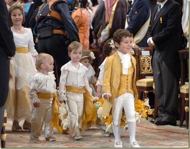 Pajes de la boda de Felipe de Borbón y Leticia