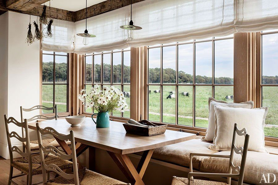 30 Breakfast Nooks to Brighten Up Your Morning | Nook ideas, Pendant on modern country dining room ideas, modern country kitchen island ideas, modern country bedroom ideas, modern country office ideas,