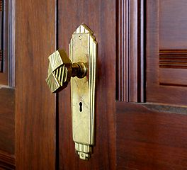 Reproduction Antique Door Locks reproduction art deco door knob and hardware | old house