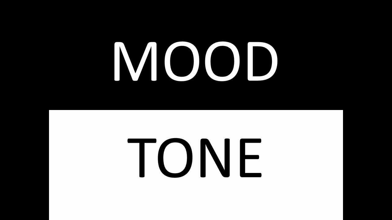 hight resolution of Mood and Tone... great lesson to introduce mood