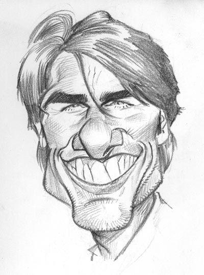 Caricaturas By Daniel Alho Tom Cruise Caricature Sketch Caricature Caricature Drawing