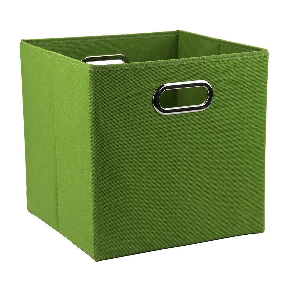 12 inch solid nonwoven large foldable storage cube green nick 39 s big boy room cube. Black Bedroom Furniture Sets. Home Design Ideas