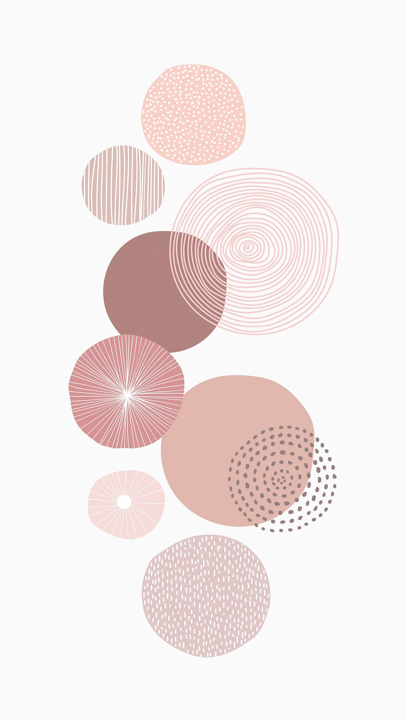 Download Premium Vector Of Pastel Pink Round Patterned Background Vector Minimalist Wallpaper Geometric Art Prints Iphone Background Wallpaper