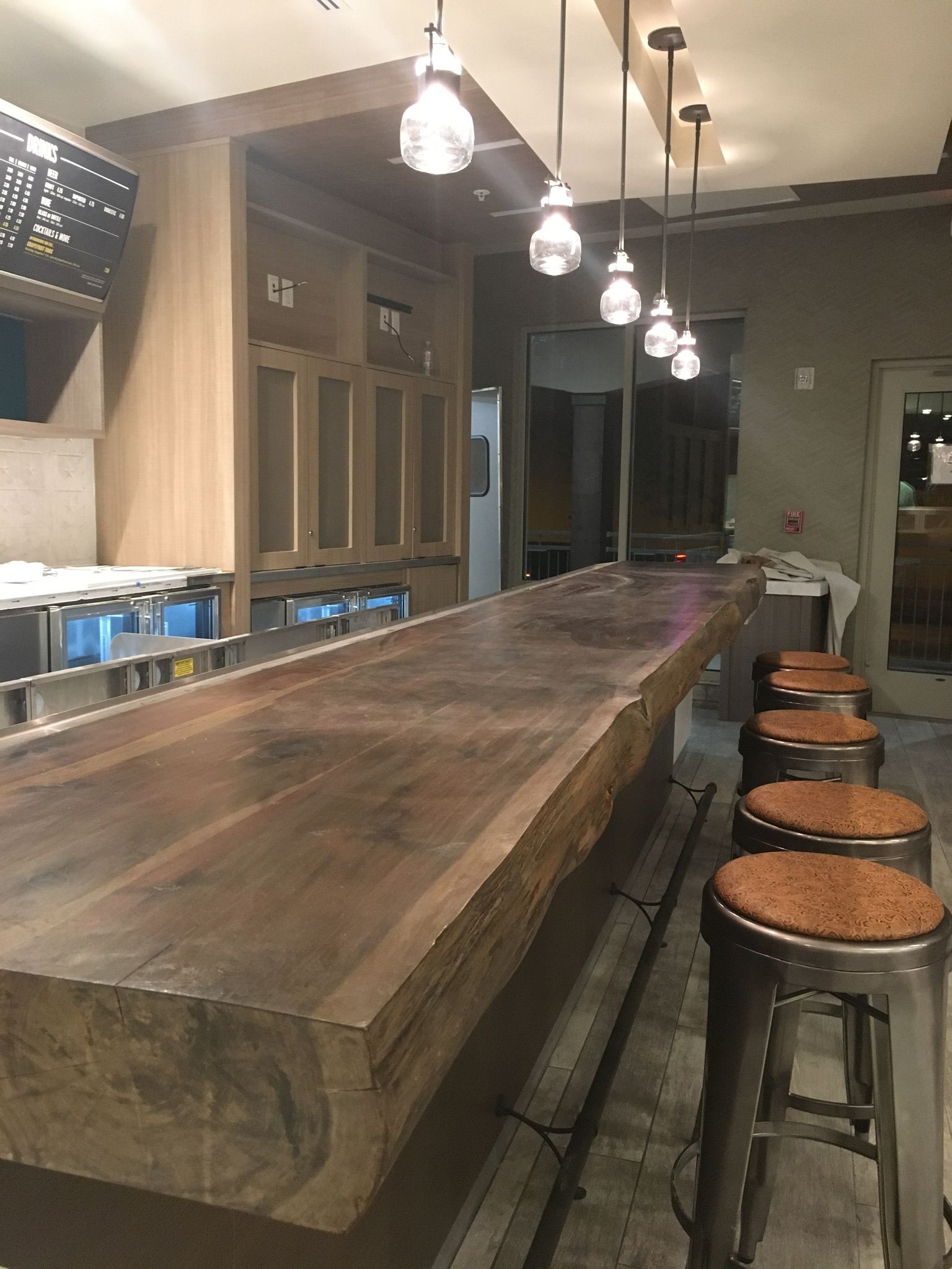 Live Edge Cedar Bar Top Of 15 Long X 5 Thick And 28 Deep I Produced The Finish Utilizing A Mix Of Natural Ele Live Edge Bar Kitchen Redesign Fine Furniture