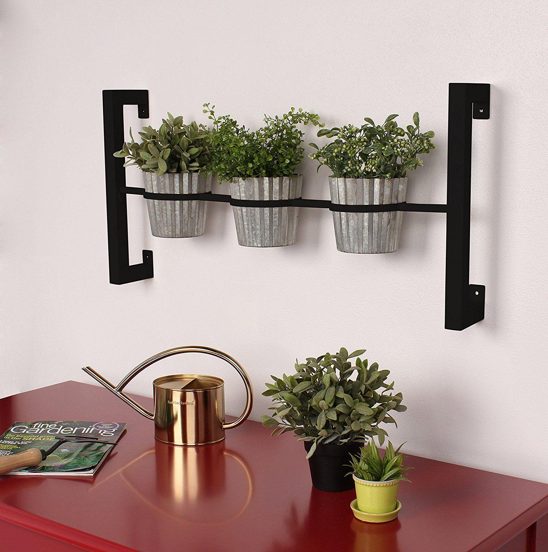 Groves Indoor Herb Garden Hanging 3 Pot Wall