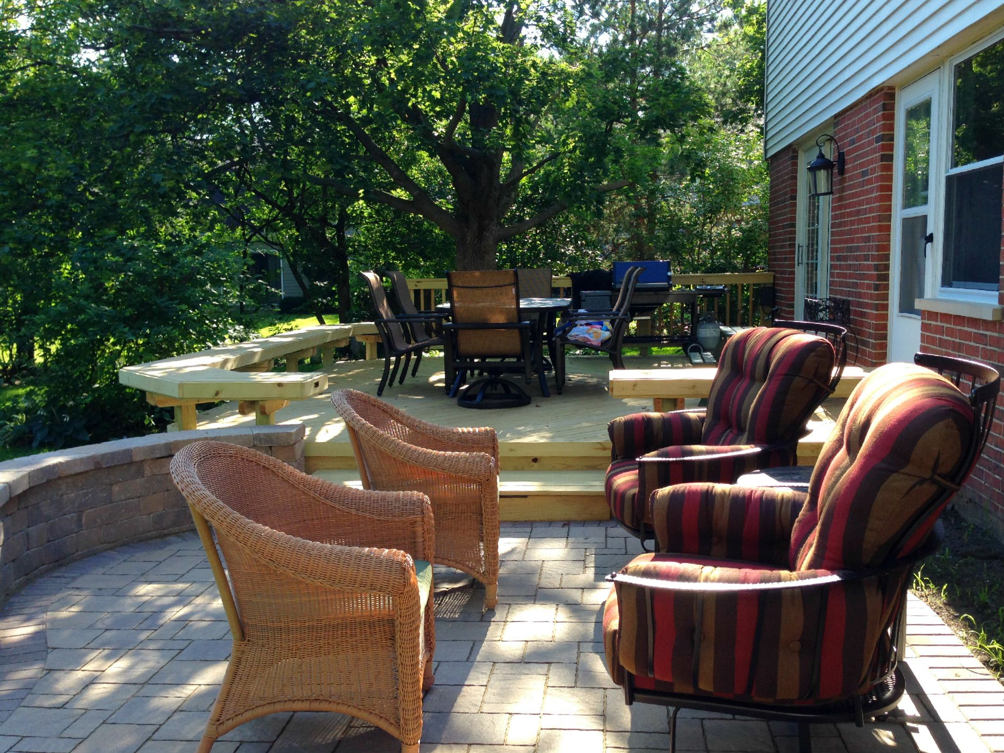 Patio Design With Deck By Suburbs Of Chicago Patio Builder
