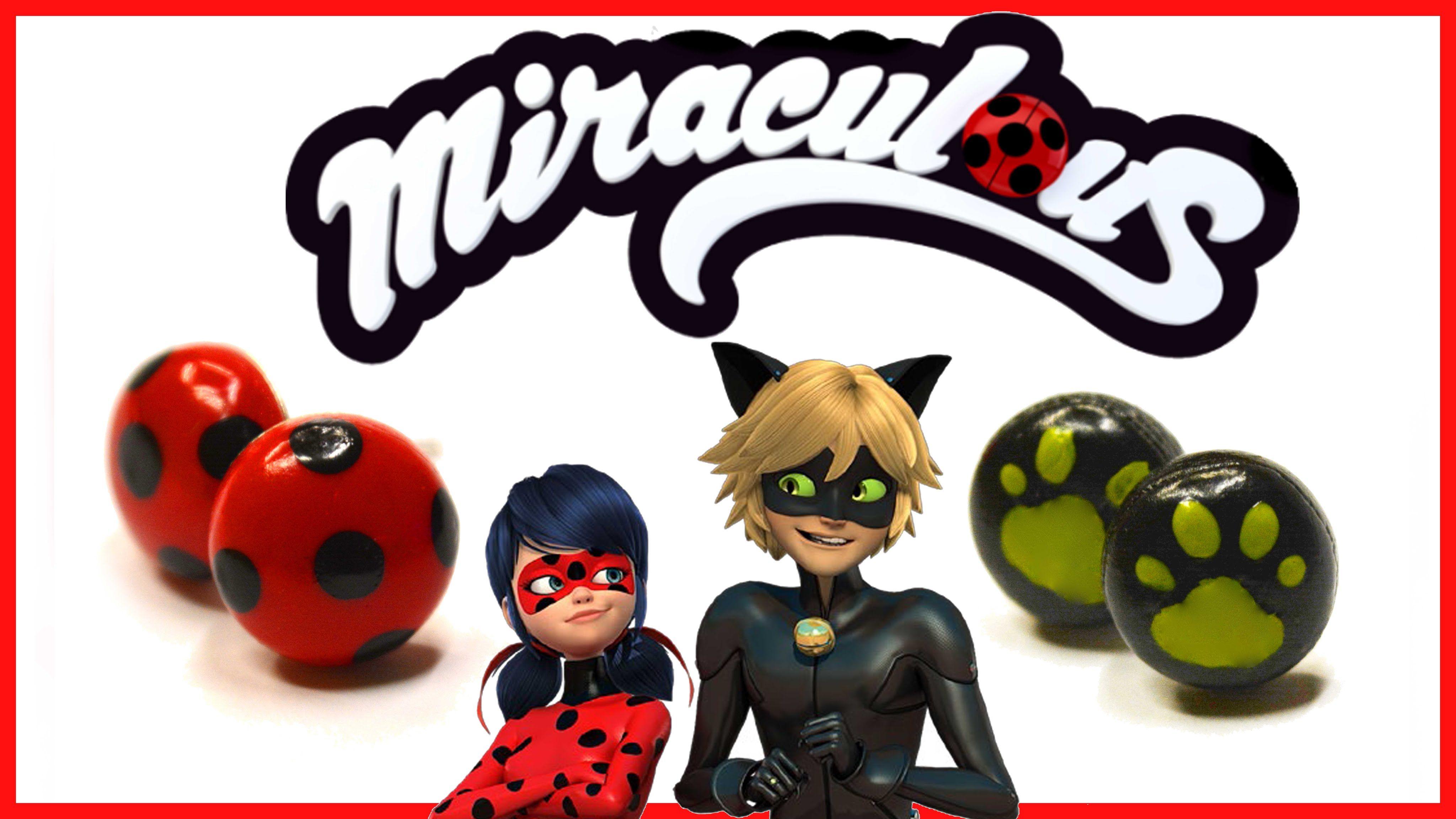 Miraculous Ladybug Earrings Chat Noir Earrings Polymer Clay Tutorial Ladybug Miraculous Ladybug Ladybug And Chat Noir