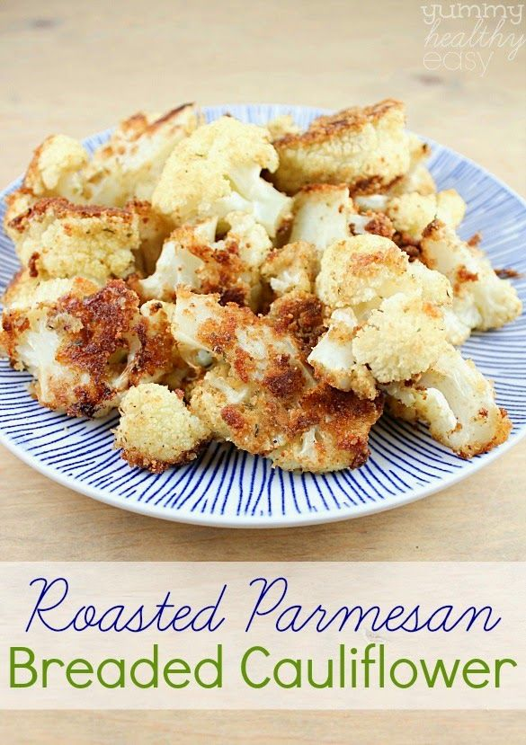 Roasted Parmesan Breaded Cauliflower - Love to be in the Kitchen