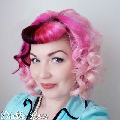 Diablo Rose: Faux Bangs and Heated Rollers Tutorial (inspired by Frenchy from Grease)