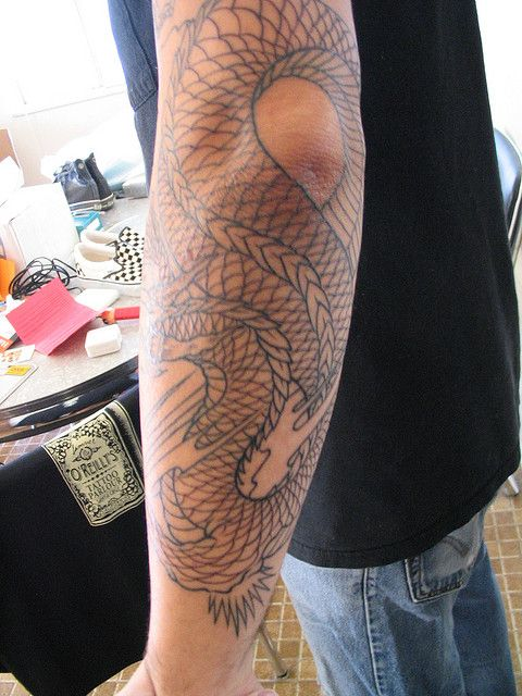 91aa09cf6 Dragon Sleeve 2 - Forearm by BRODICK, via Flickr | Tattoos | Dragon ...