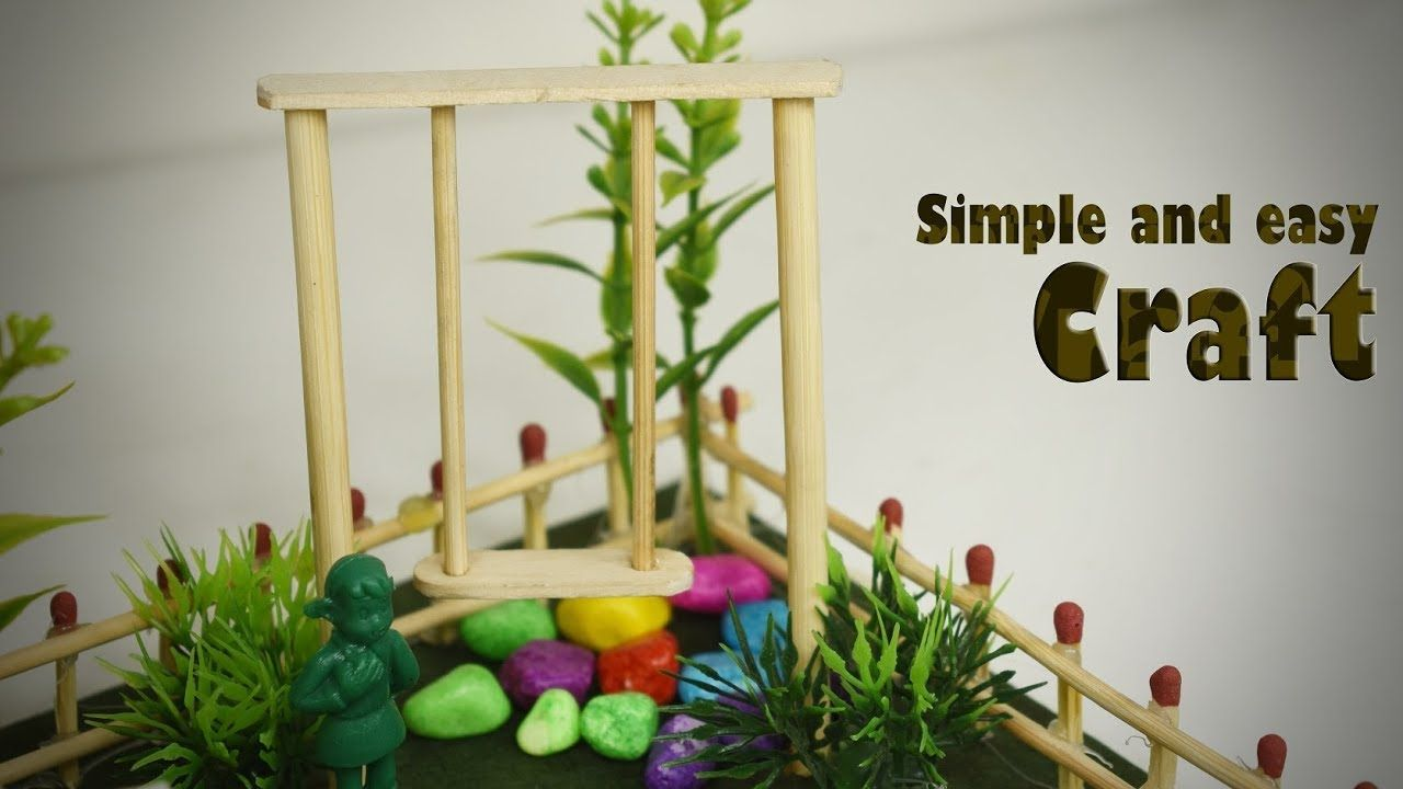 Art And Craft Ideas How To Make Popsicle Stick Or Icecream Stick