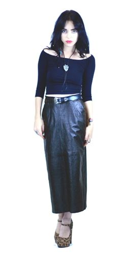 how to wear a leather midi skirt!