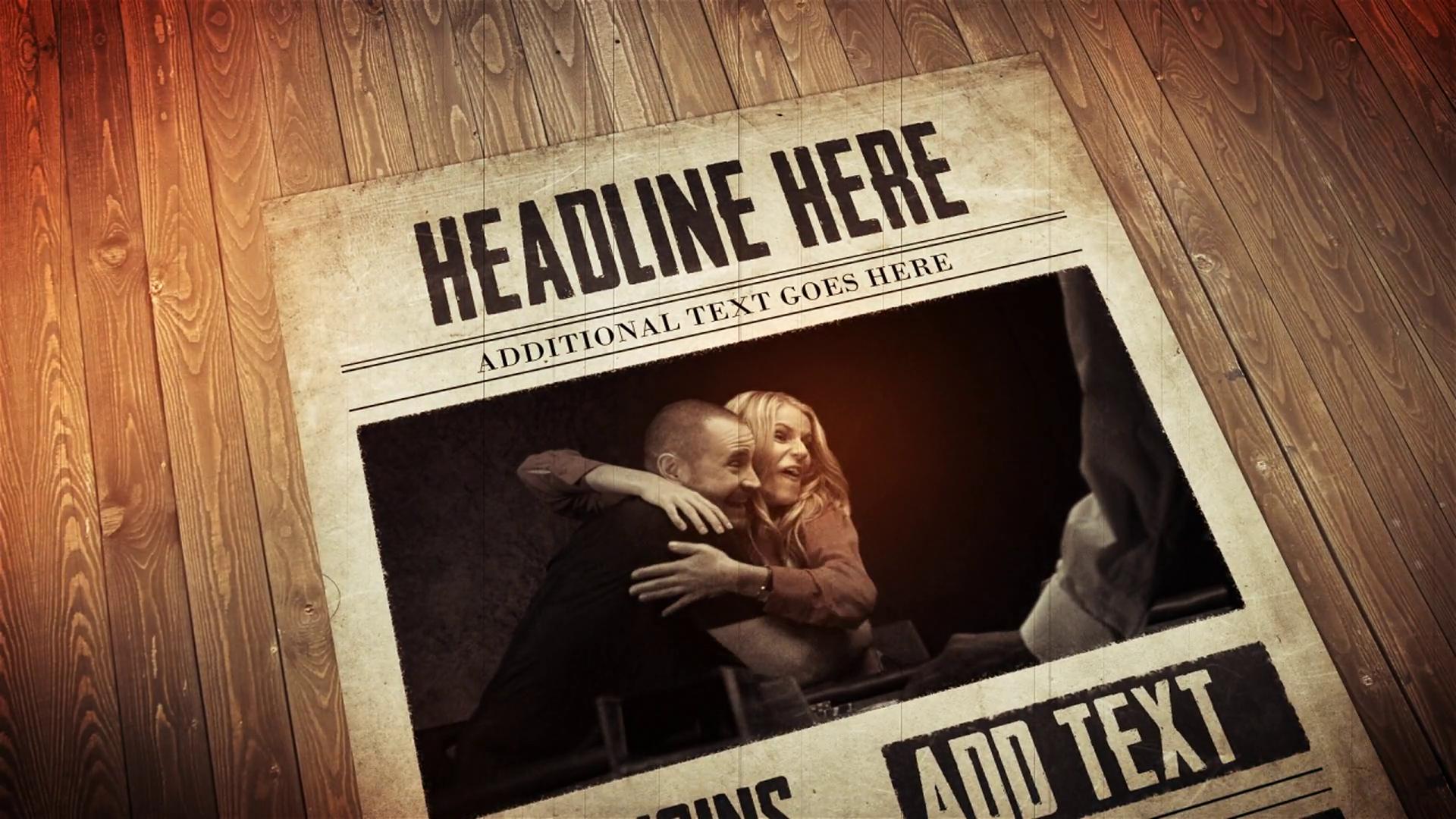 After Effects CS4 Template: Living Newspaper Presentation