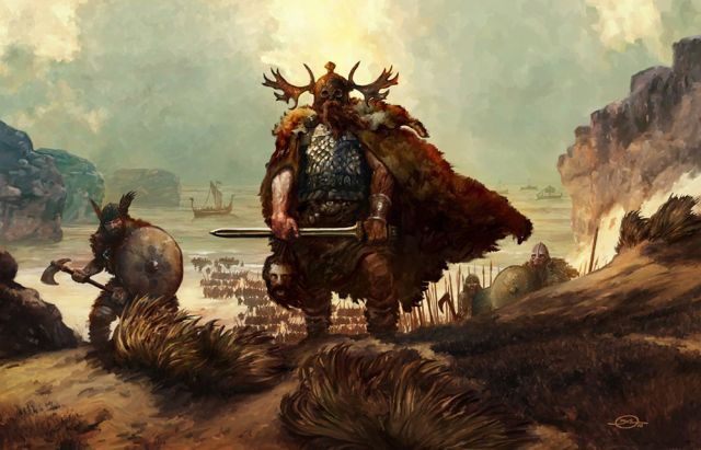 Invasion Picture (2d, fantasy, sword, coast, ships, fur, vikings ...