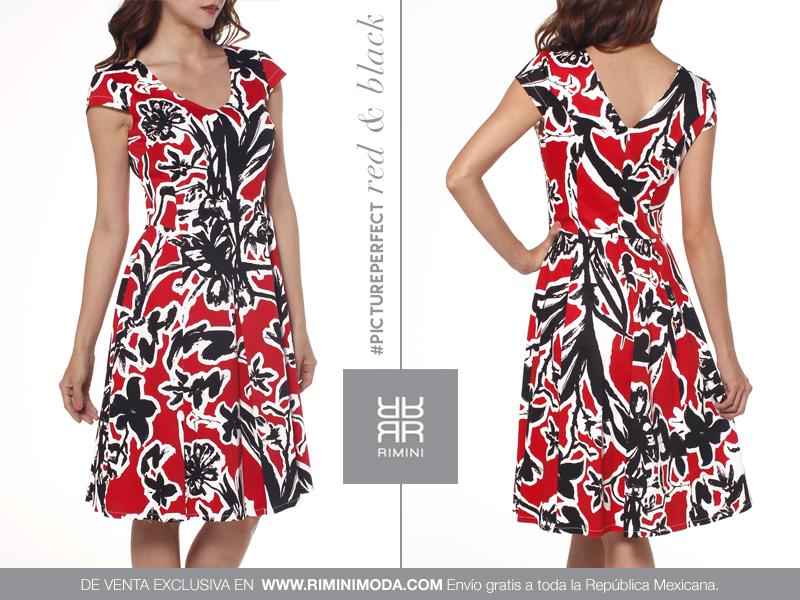 Vestido rojo casual kimono