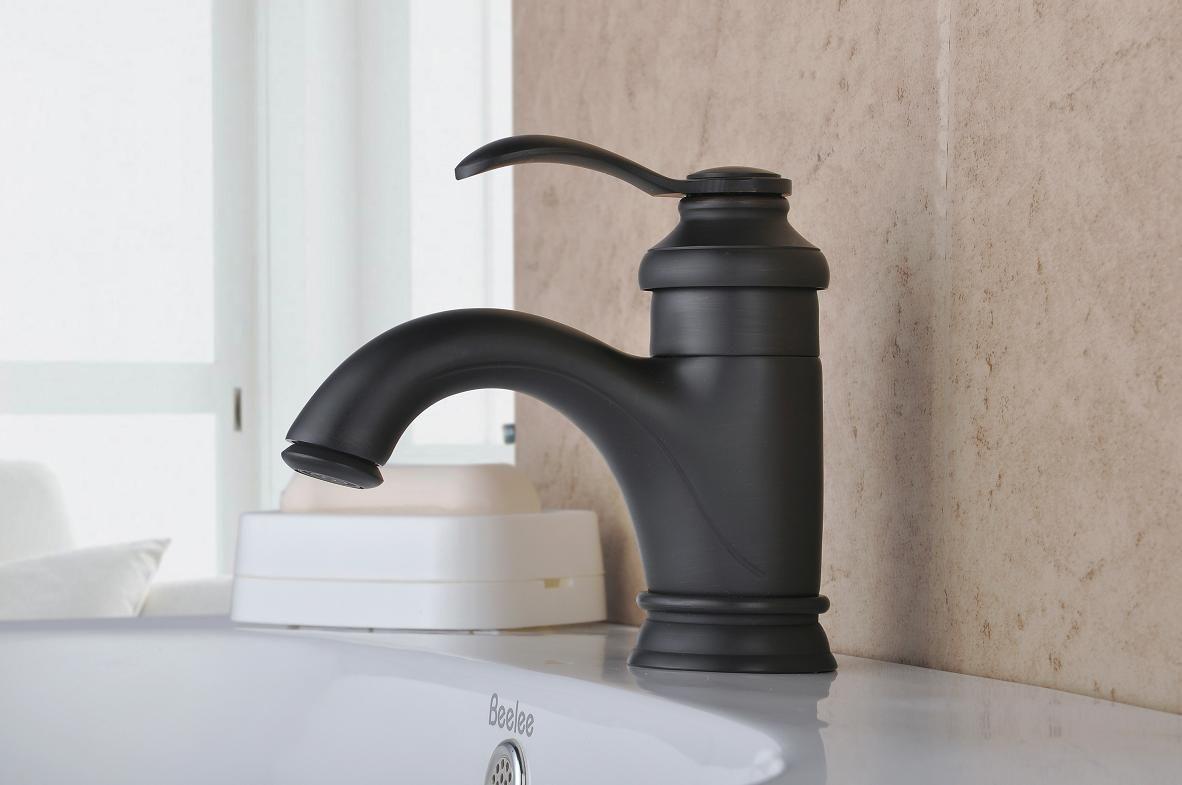 Bronze huilé Finition Centerset mitigeur en laiton lavabo robinet ...