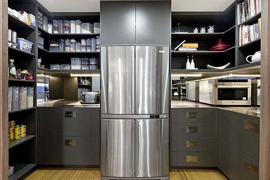 Fridge Inside Scullery Pantry Kitchen Decor Minimalist Kitchen New Kitchen Designs