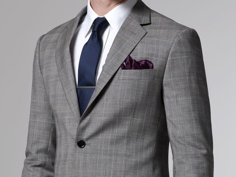 Essential Gray Prince of Wales Suit | Men\'s fashion, Guy clothes ...