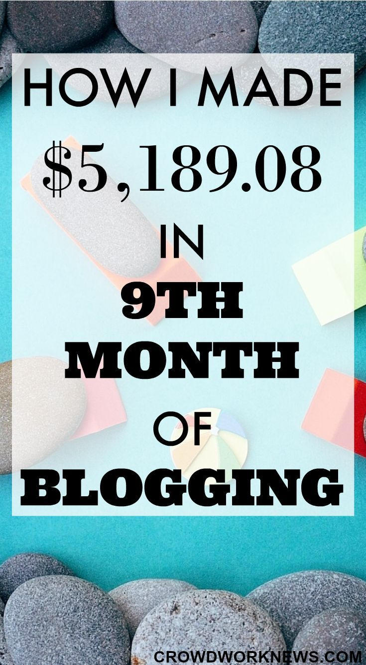 My 9th month blog and income update is live!! Find out how I earned over $5000 in one month of blogging working from home. You can do it too!!