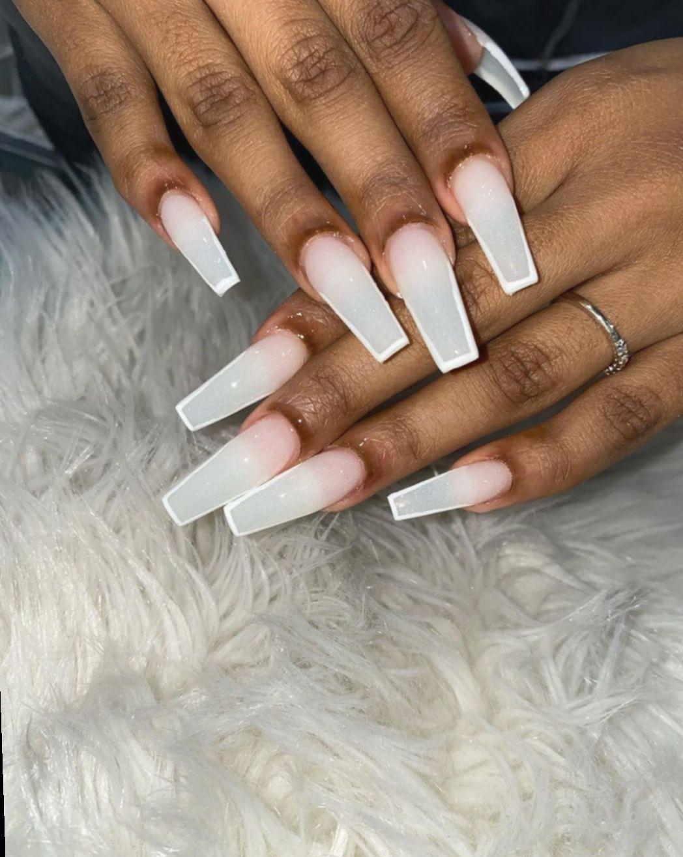 12 Nail Acrylic Long Baddie White Acrylic Nails Square Acrylic Nails Clear Acrylic Nails