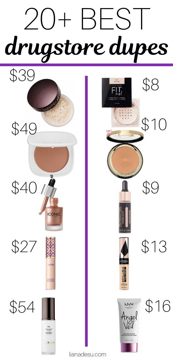 Best Drugstore Makeup Dupes - The Ultimate List - liana desu