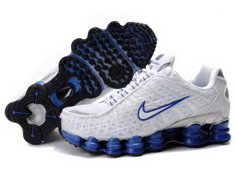 huge selection of 5bf37 cf7f3 Nike Shox TL1 - White Blue Mens