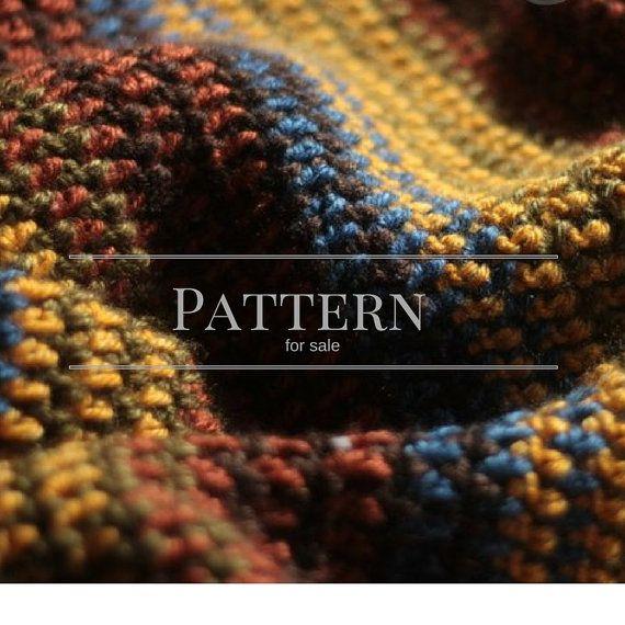 Crochet Blanket Pattern Easy Stripe Afghan By Chocolatedogstudio