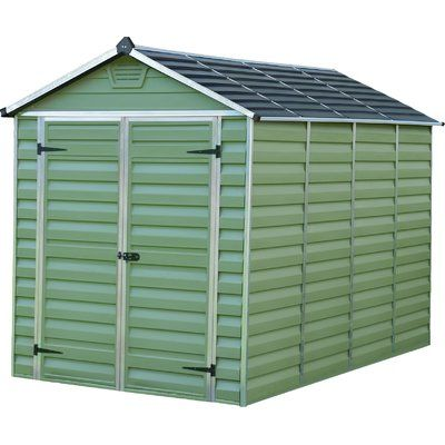 find palram skylight dark grey apex shed x at homebase visit your local store for the widest range of garden products - Garden Sheds Homebase