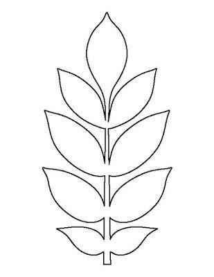 Fields Of Heather: Kostenlose Vorlagen für große Papierblumenblätter #constructionpaperflowers