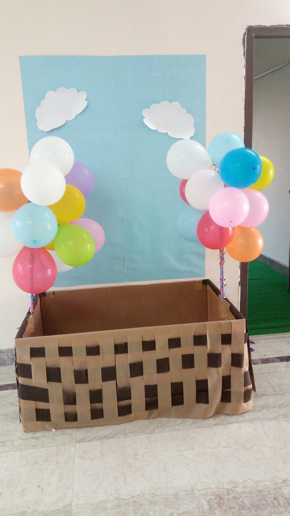 Hot Air Balloon Photo Booth Party Decor Balloons Air Balloon