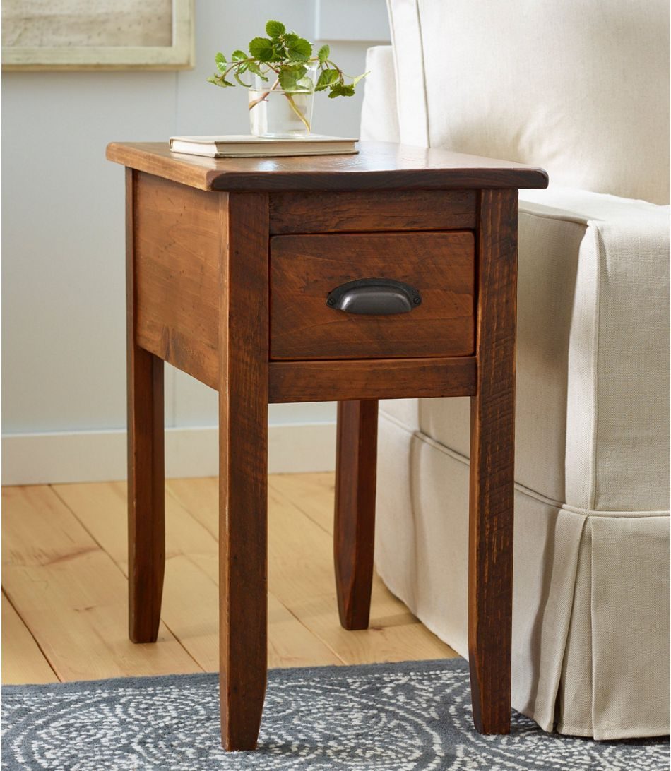 End Tables Home Goods At L L Bean Wooden Side Table Living Room Side Table Wooden Side Tables [ 1092 x 950 Pixel ]
