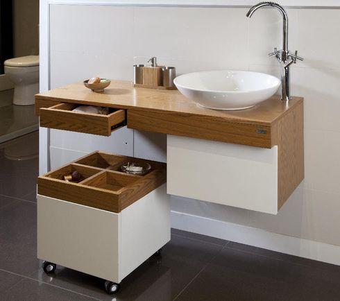 Mueble para bowl buscar con google ba o pinterest for Muebles y accesorios para banos pequenos