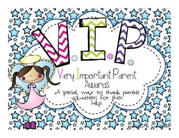 vip awards very important parents awards for room parent