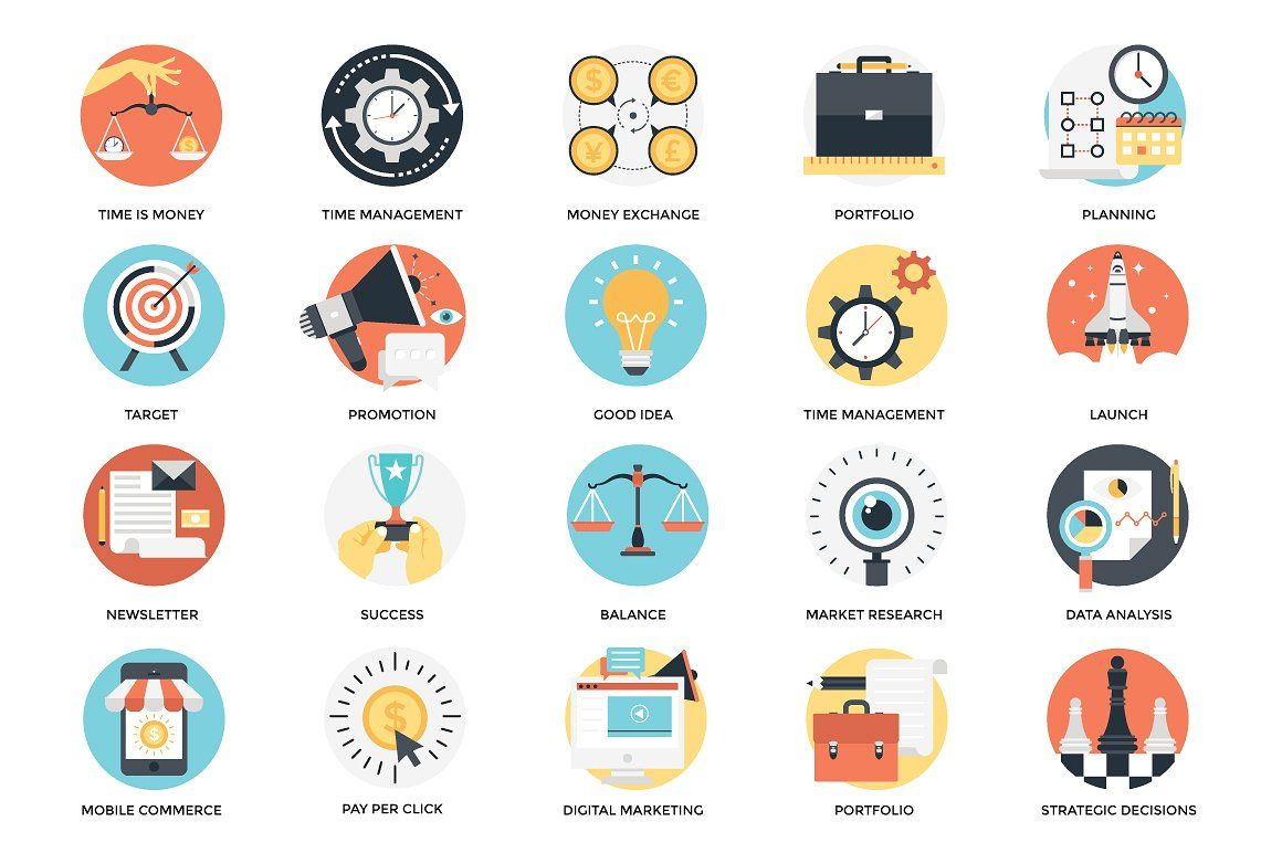 300 Flat Business Icons Business Icon Png Icons Icon
