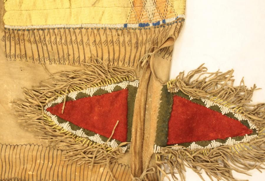 Fringed, Quill shirt in the British Museum Collection | Blackfoot Digital Library