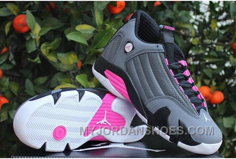 b3e7eb04299 Jordan 14 Retro GS Hyper Pink Metallic Dark Grey/Black-White QSd2Y ...