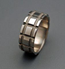 Sandblasted Man with a Plan - Titanium Rings | Minter + Richter