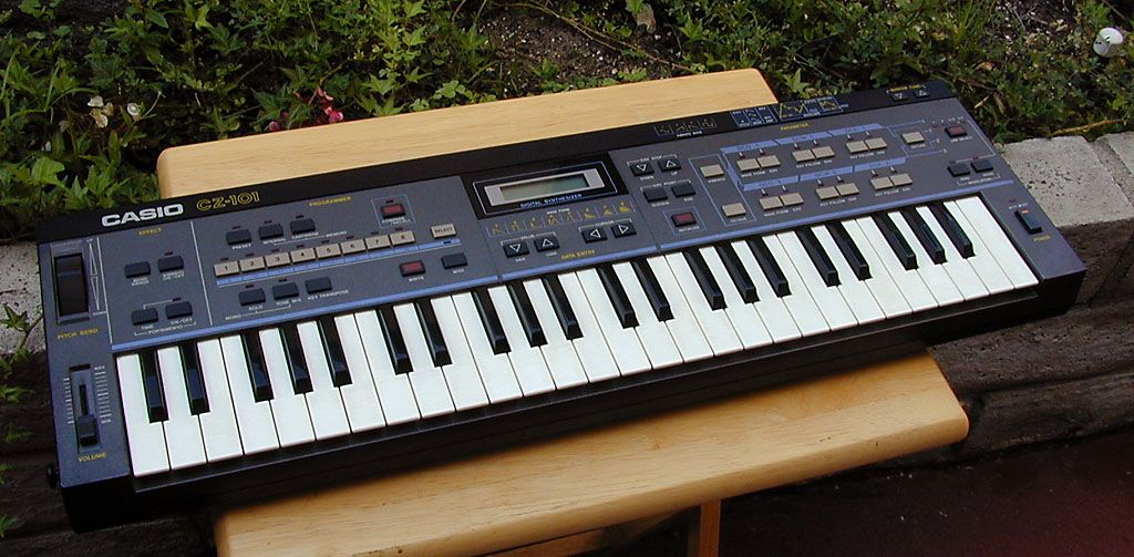 """My first """"real"""" synthesizer, a Casio CZ-101."""
