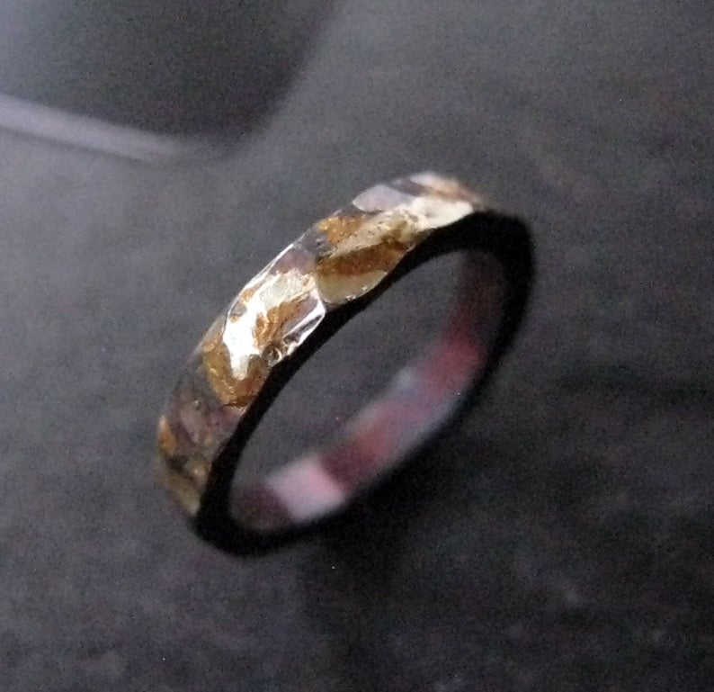 14K 18K Yellow Gold Sterling Silver Mixed Metal Ring