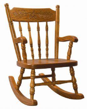 Child S Acornback Rocker Country Lane Furniture Caseta De Madera Mecedora Sillas