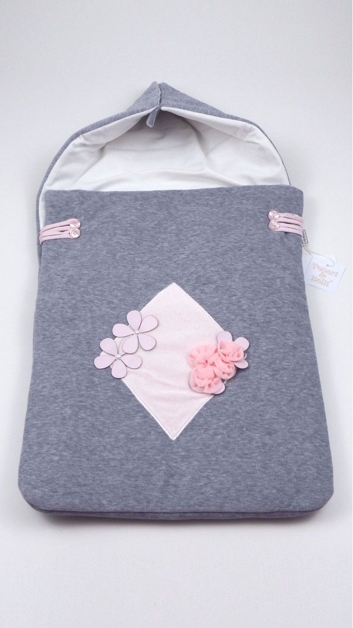 983c40c80f Sacco nanna neonato Teneri e Belli cappuccio e sacco aperti con bottoni  realizzato in ciniglia di