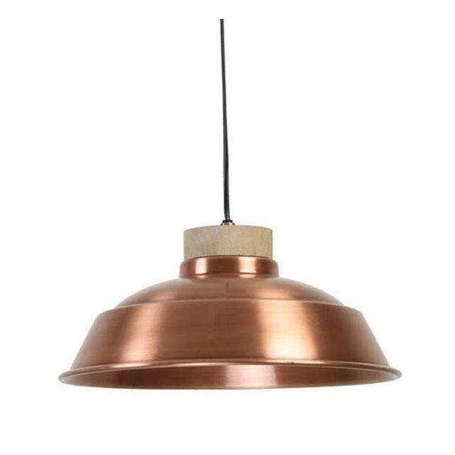 Luminaire Original cuivre et bois Paprika Plan de travail