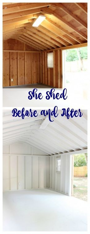 One Room Challenge She Shed - Week 2 She Shed Ideas Pinterest